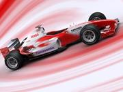 f1 toyota simple 2005 3d model