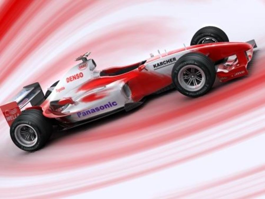 f1 toyota simple 2005 royalty-free 3d model - Preview no. 1