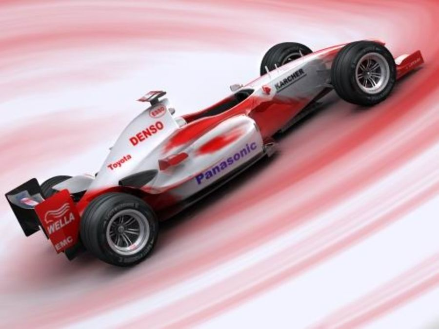 f1 toyota simple 2005 royalty-free 3d model - Preview no. 4