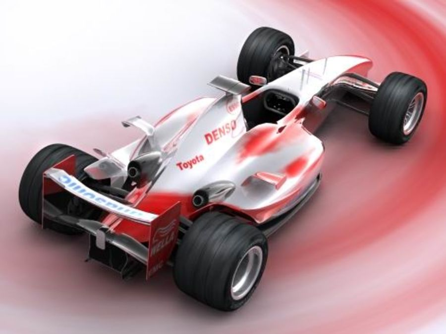 f1 toyota simple 2005 royalty-free 3d model - Preview no. 5