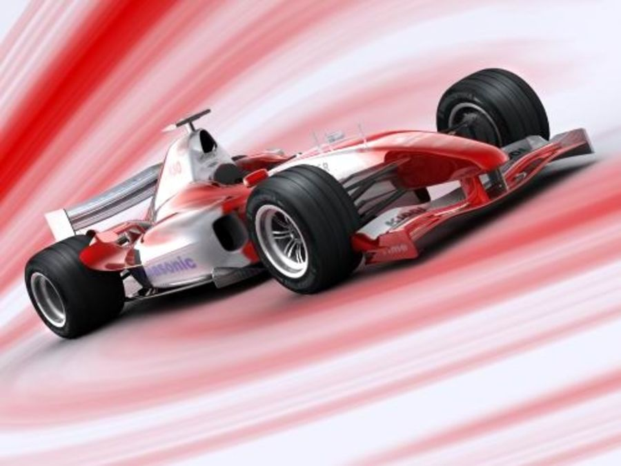 f1 toyota simple 2005 royalty-free 3d model - Preview no. 2