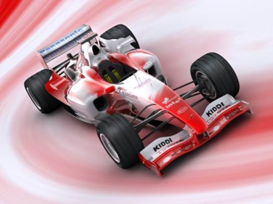 f1 toyota simple 2005 royalty-free 3d model - Preview no. 3