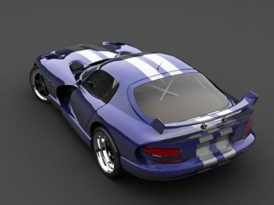 Dodge Viper купе royalty-free 3d model - Preview no. 1