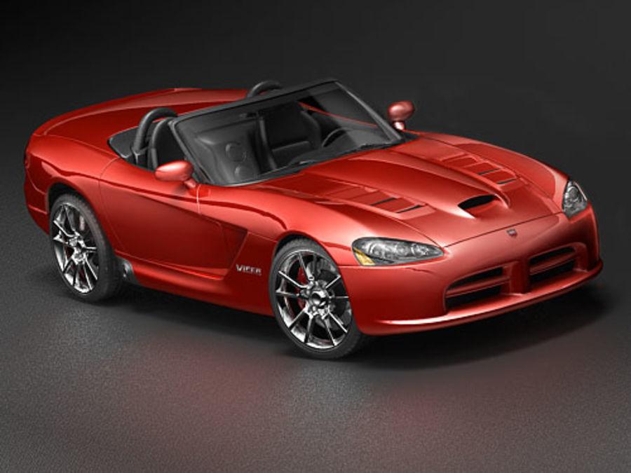 dodge viper srt-10 royalty-free 3d model - Preview no. 1