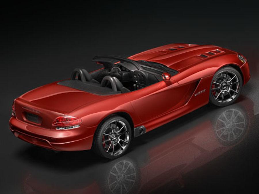 dodge viper srt-10 royalty-free 3d model - Preview no. 3