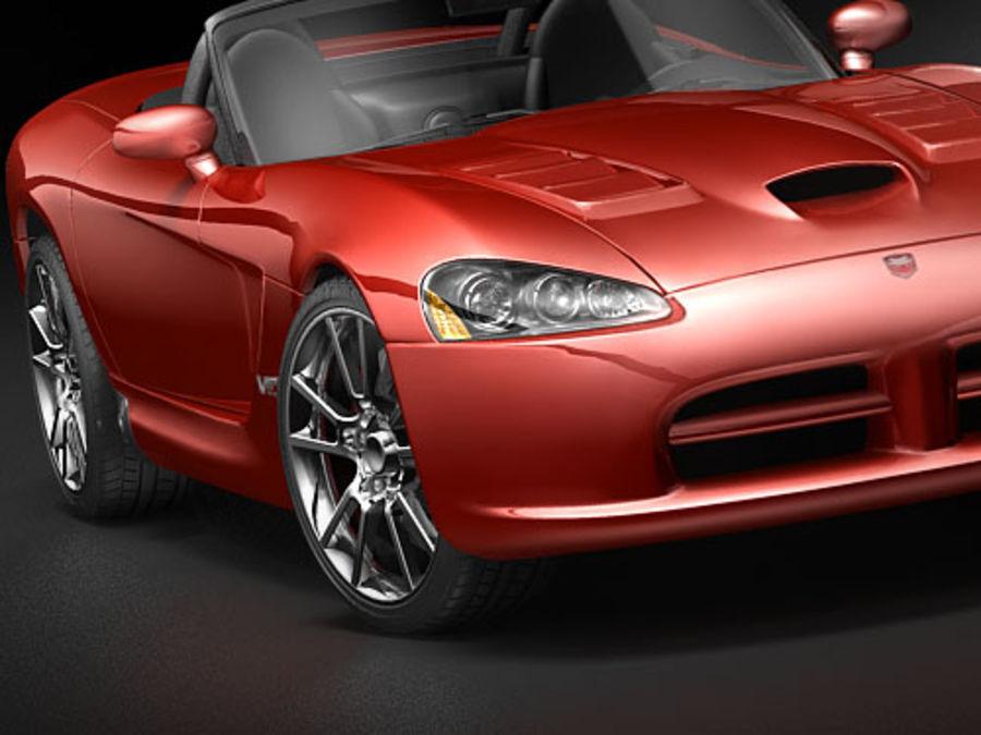 dodge viper srt-10 royalty-free 3d model - Preview no. 4