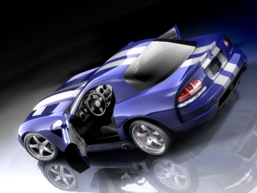 Dodge Viper SRT10 купе royalty-free 3d model - Preview no. 1