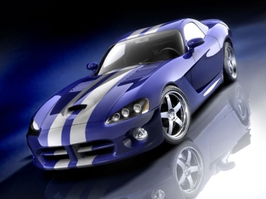 Dodge Viper SRT10 купе royalty-free 3d model - Preview no. 3