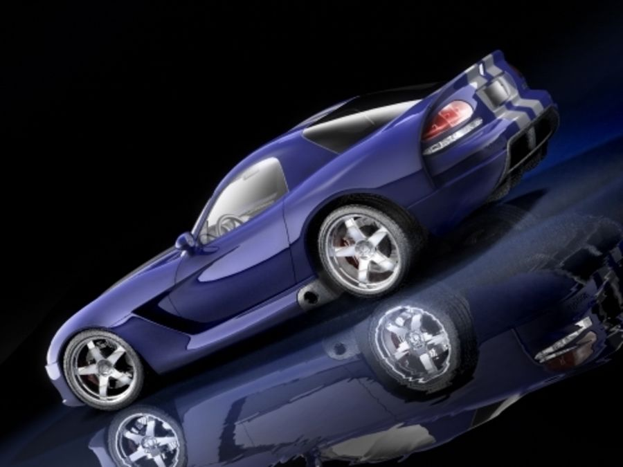 Dodge Viper SRT10 купе royalty-free 3d model - Preview no. 2