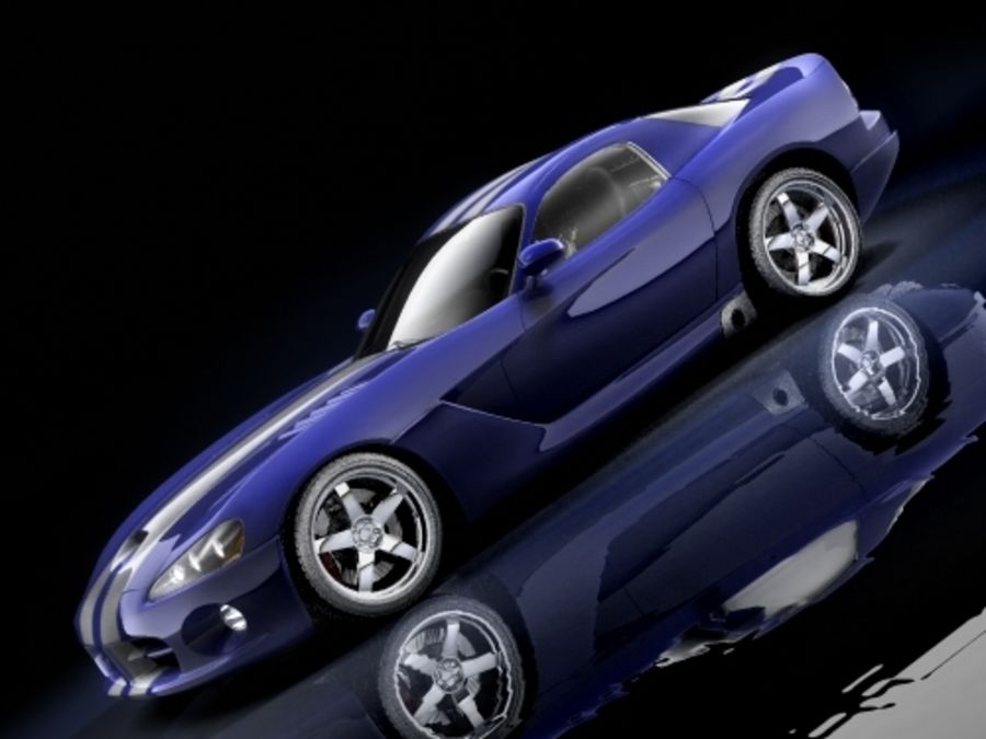 Dodge Viper SRT10 купе royalty-free 3d model - Preview no. 5