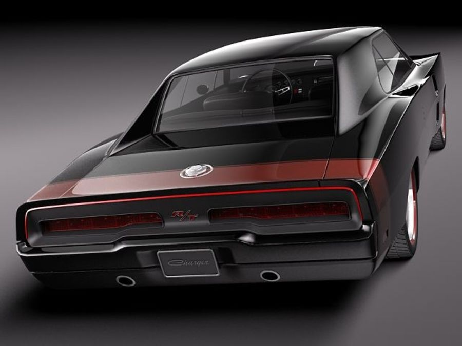 Dodge Charger 1969 custom royalty-free 3d model - Preview no. 6