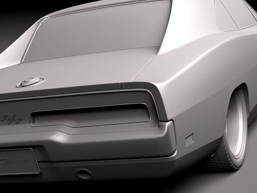 Dodge Charger 1969 custom royalty-free 3d model - Preview no. 11