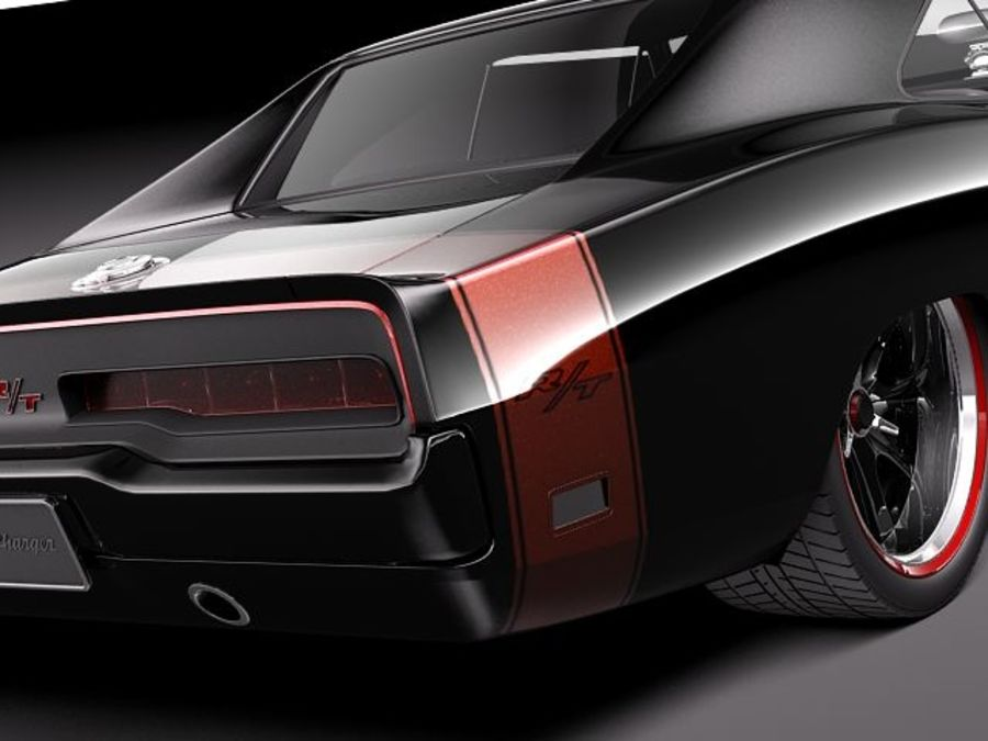 Dodge Charger 1969 custom royalty-free 3d model - Preview no. 4