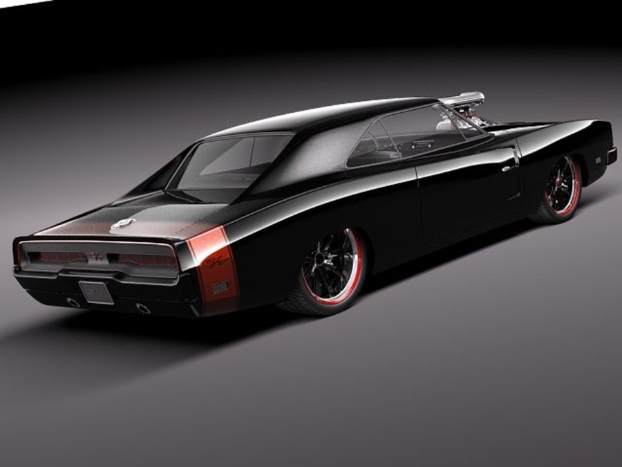 Dodge Charger 1969 custom royalty-free 3d model - Preview no. 5