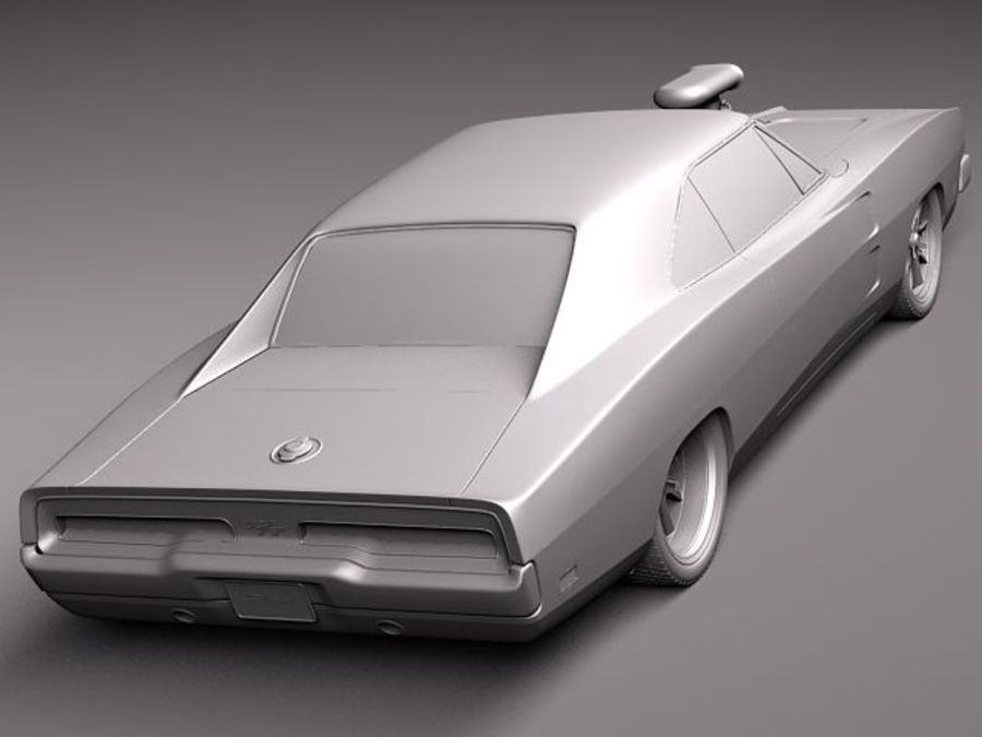 Dodge Charger 1969 custom royalty-free 3d model - Preview no. 12