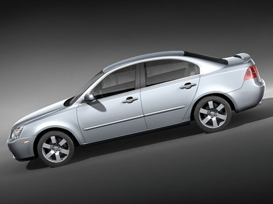 Kia Optima 2006 royalty-free modelo 3d - Preview no. 7