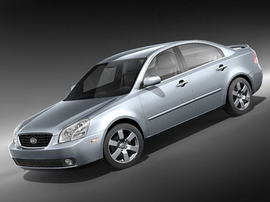 Kia Optima 2006 royalty-free modelo 3d - Preview no. 1