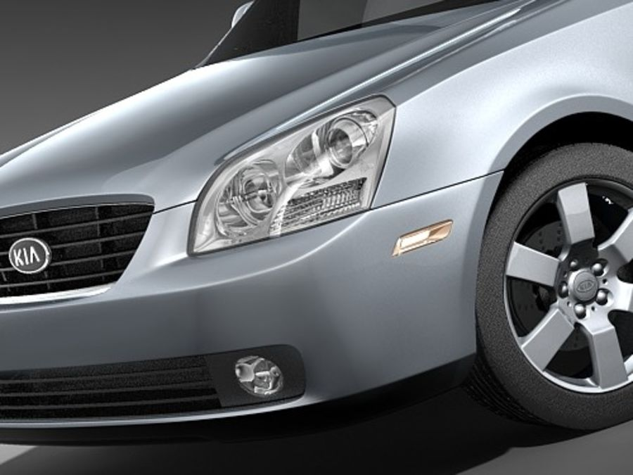 Kia Optima 2006 royalty-free modelo 3d - Preview no. 3