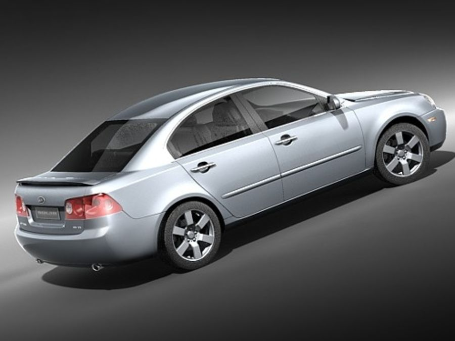 Kia Optima 2006 royalty-free modelo 3d - Preview no. 6