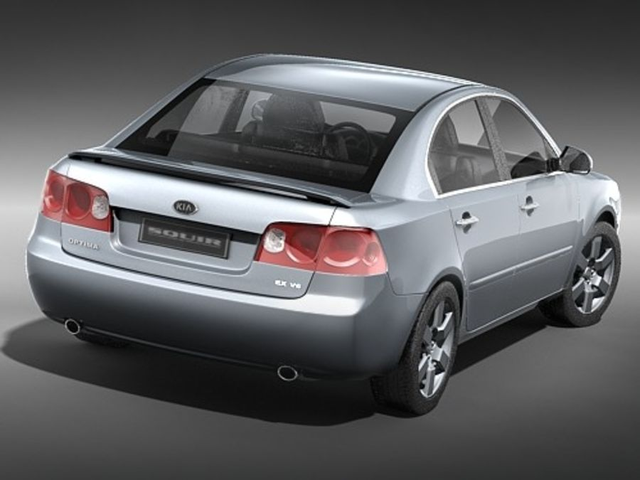 Kia Optima 2006 royalty-free modelo 3d - Preview no. 5
