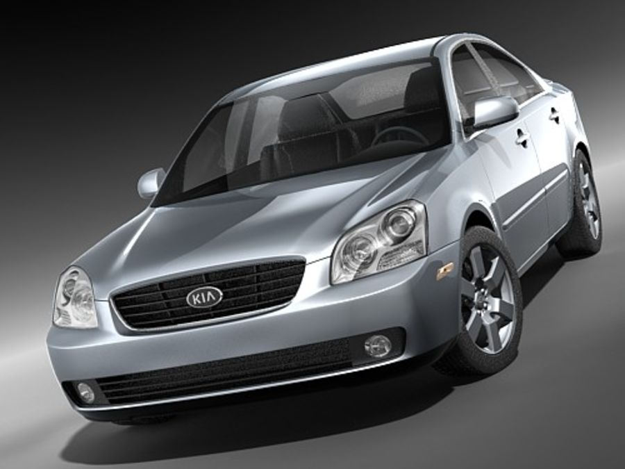 Kia Optima 2006 royalty-free modelo 3d - Preview no. 2
