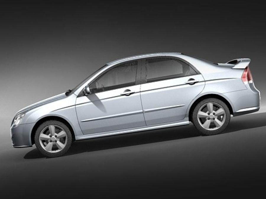 起亚光谱2006-2008 royalty-free 3d model - Preview no. 7