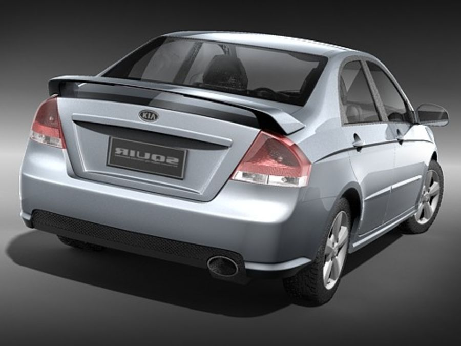 起亚光谱2006-2008 royalty-free 3d model - Preview no. 6