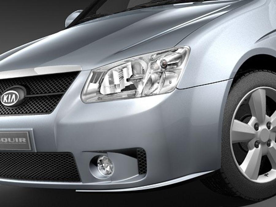 起亚光谱2006-2008 royalty-free 3d model - Preview no. 3