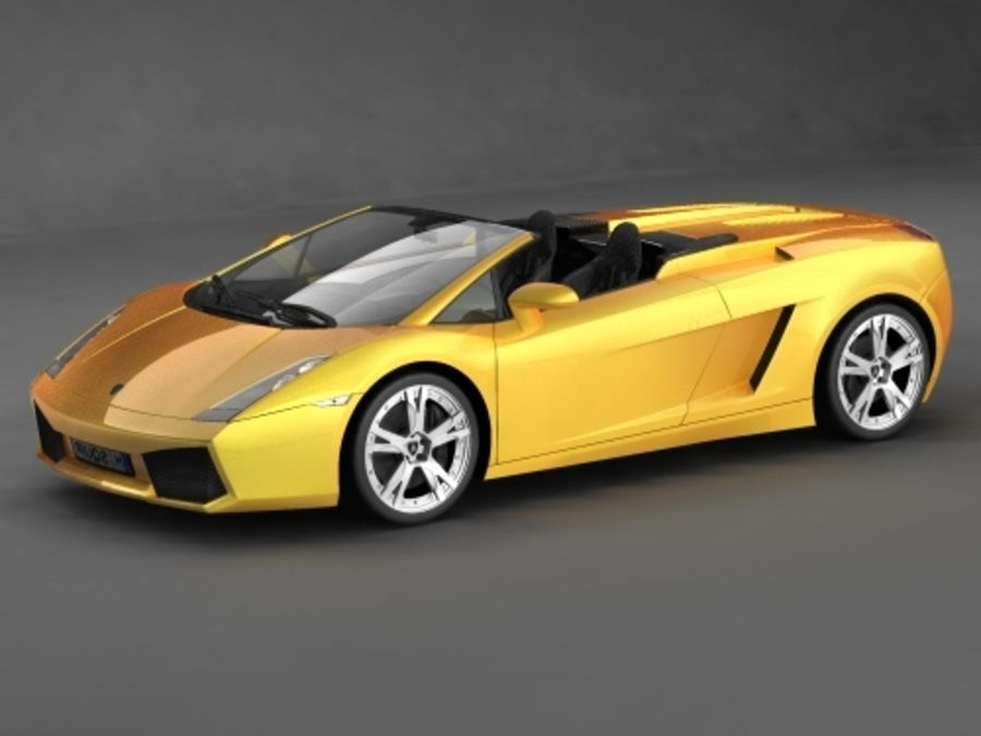 Lamborghini Gallardo Spyder royalty-free 3d model - Preview no. 4