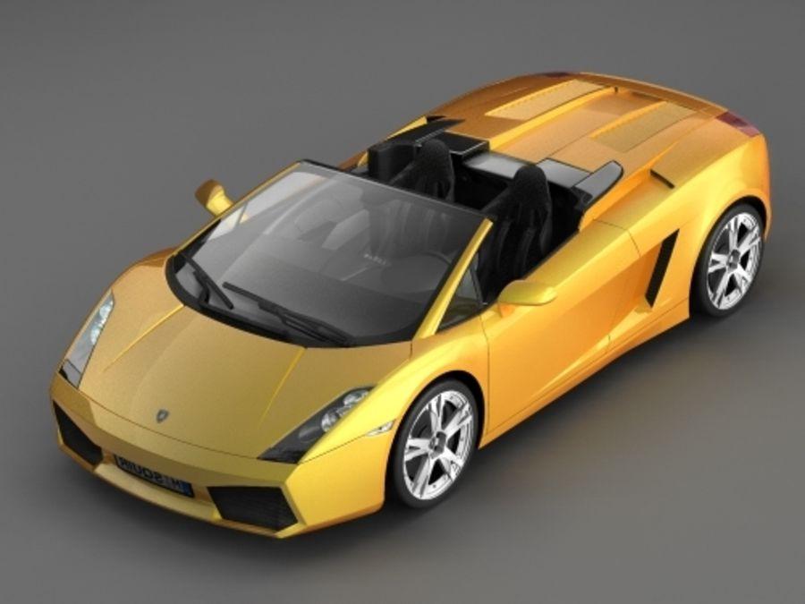 Lamborghini Gallardo Spyder royalty-free 3d model - Preview no. 1