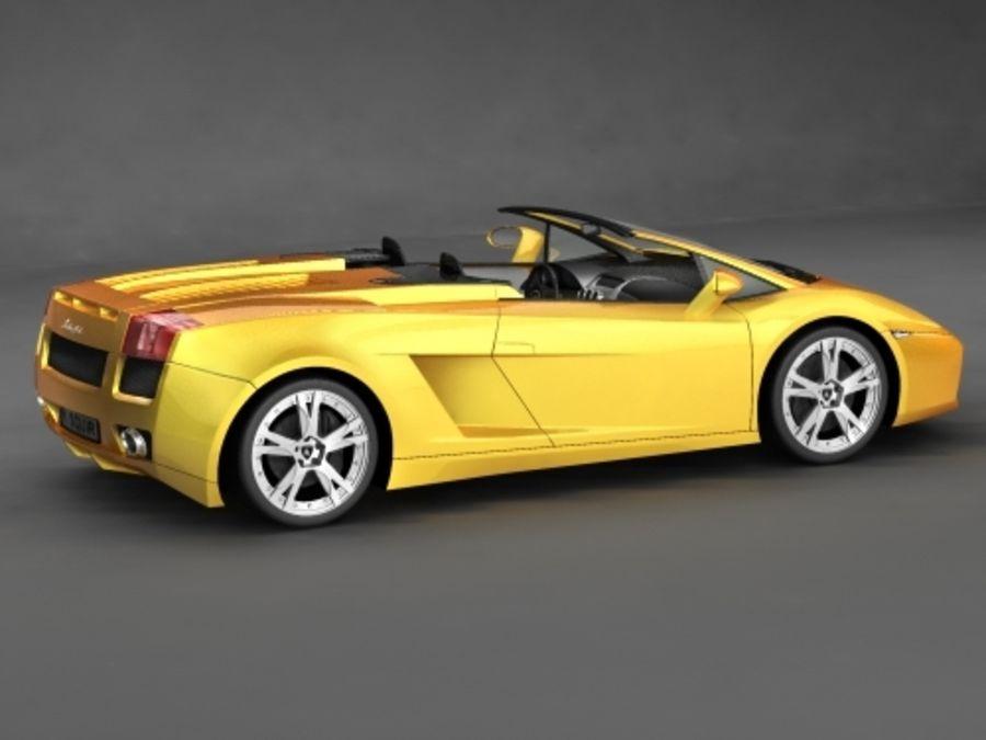 Lamborghini Gallardo Spyder royalty-free 3d model - Preview no. 2