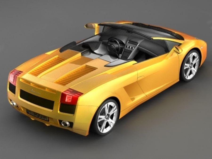 Lamborghini Gallardo Spyder royalty-free 3d model - Preview no. 3