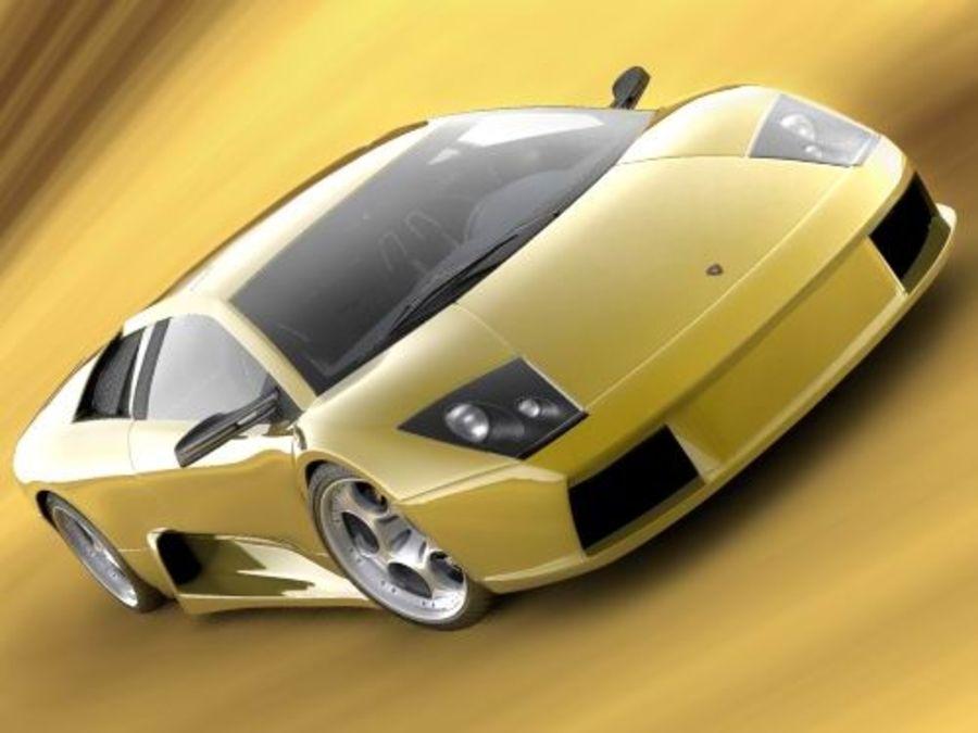 Lamborghini Murcielago 2006 royalty-free 3d model - Preview no. 3