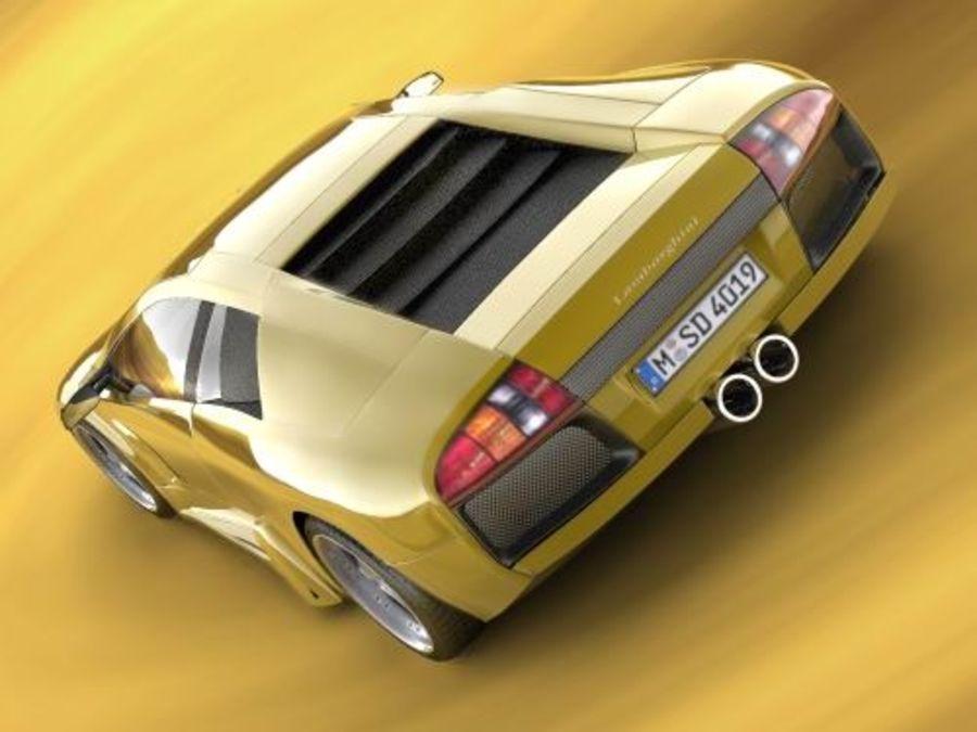 Lamborghini Murcielago 2006 royalty-free 3d model - Preview no. 5