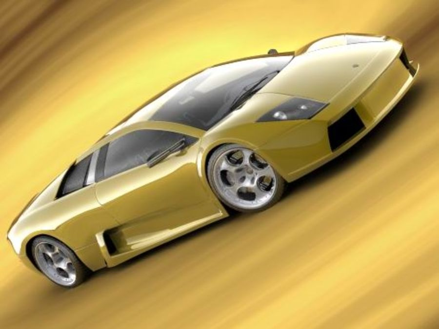 Lamborghini Murcielago 2006 royalty-free 3d model - Preview no. 2
