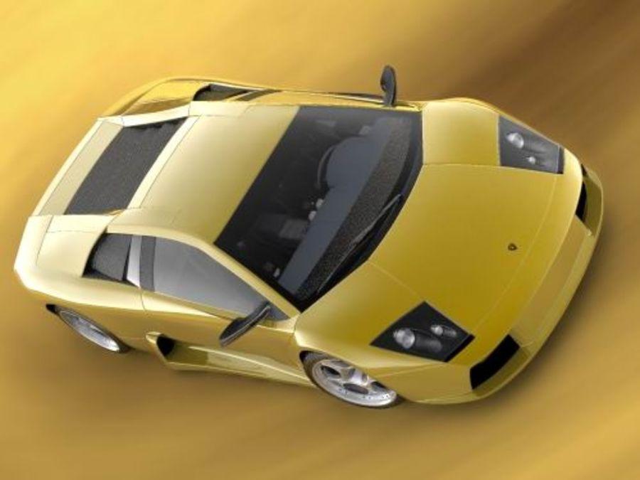 Lamborghini Murcielago 2006 royalty-free 3d model - Preview no. 4