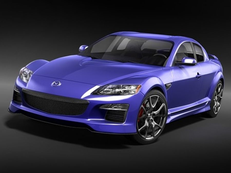 Mazda RX8 2008-2010 royalty-free 3d model - Preview no. 3