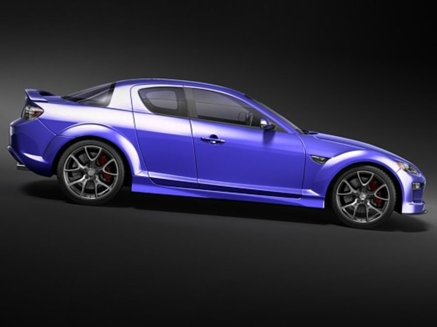 Mazda RX8 2008-2010 royalty-free 3d model - Preview no. 8