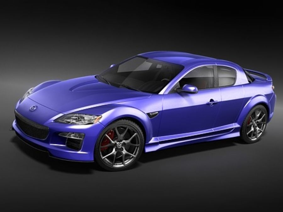 Mazda RX8 2008-2010 royalty-free 3d model - Preview no. 2