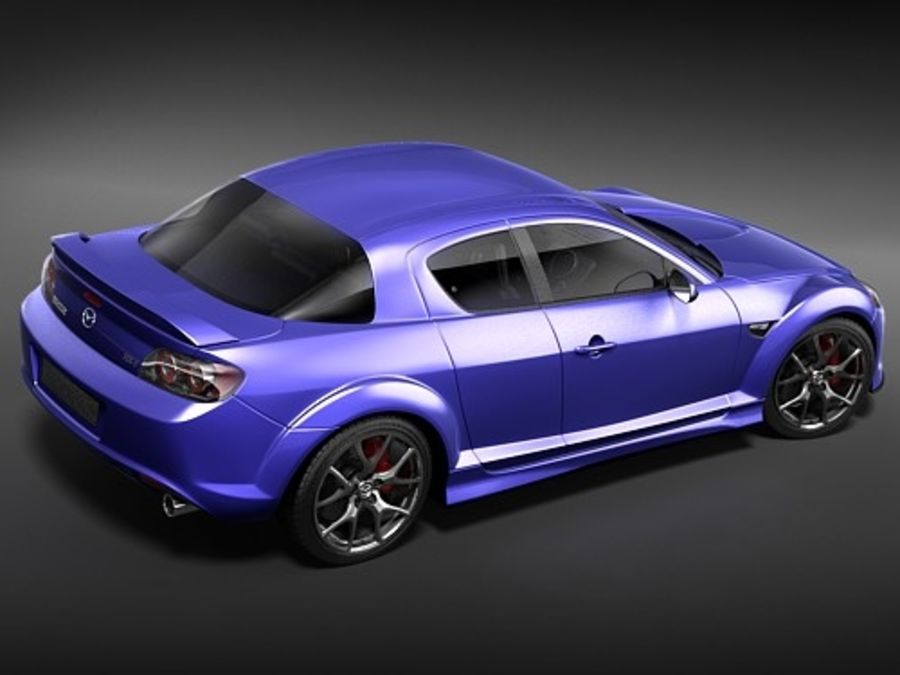 Mazda RX8 2008-2010 royalty-free 3d model - Preview no. 7