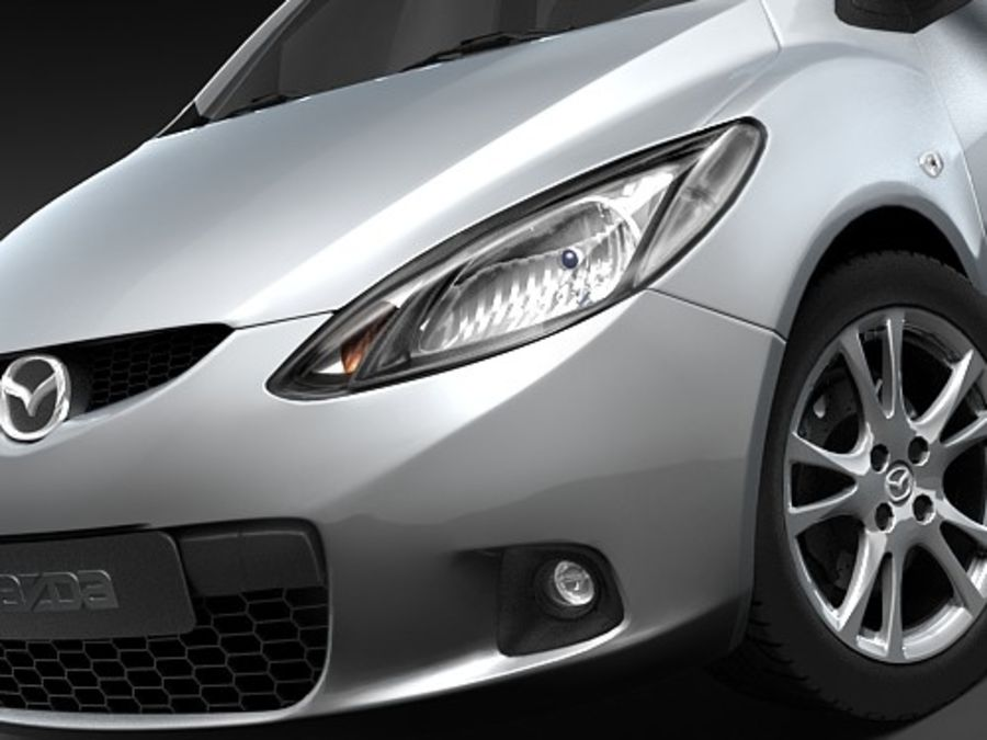 Mazda 2 2008-2010 royalty-free 3d model - Preview no. 3