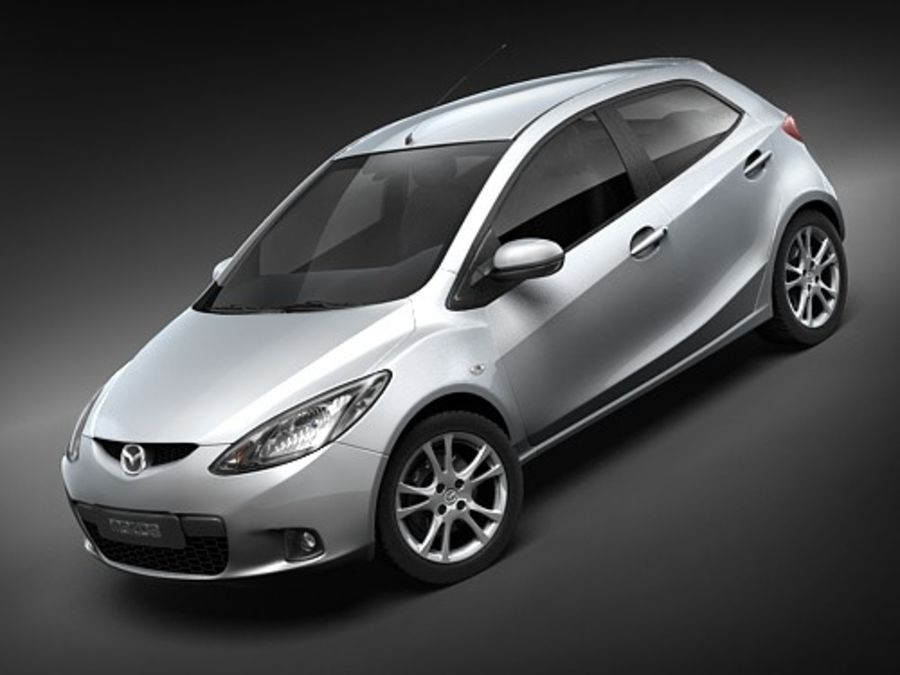 Mazda 2 2008-2010 royalty-free 3d model - Preview no. 1