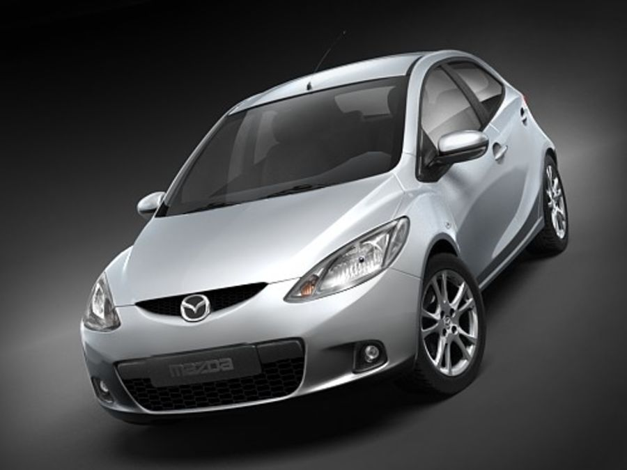 Mazda 2 2008-2010 royalty-free 3d model - Preview no. 2