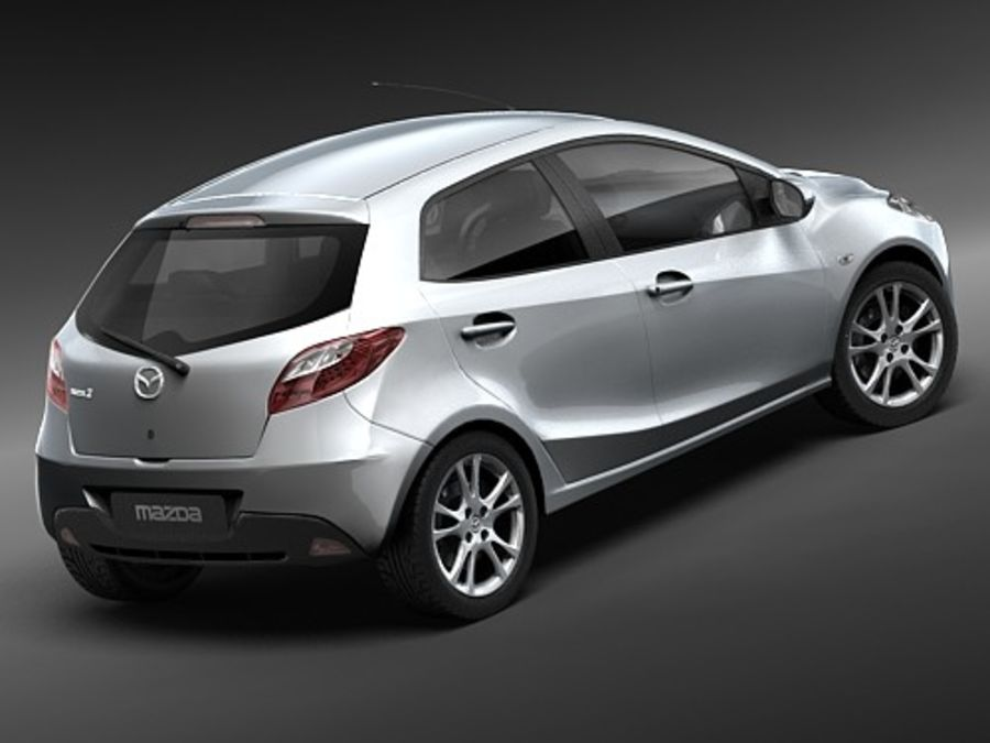 Mazda 2 2008-2010 royalty-free 3d model - Preview no. 5