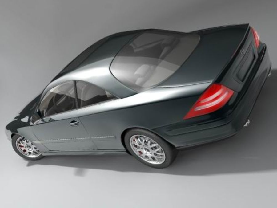 Mercedes CL 2000-2006 royalty-free 3d model - Preview no. 3