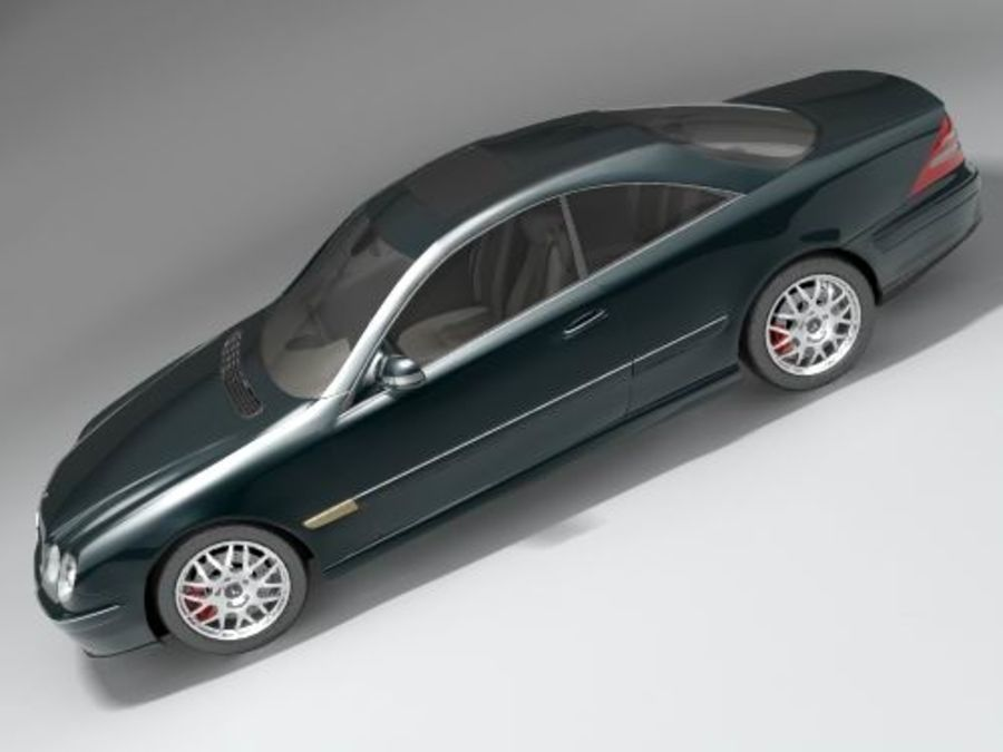 Mercedes CL 2000-2006 royalty-free 3d model - Preview no. 2