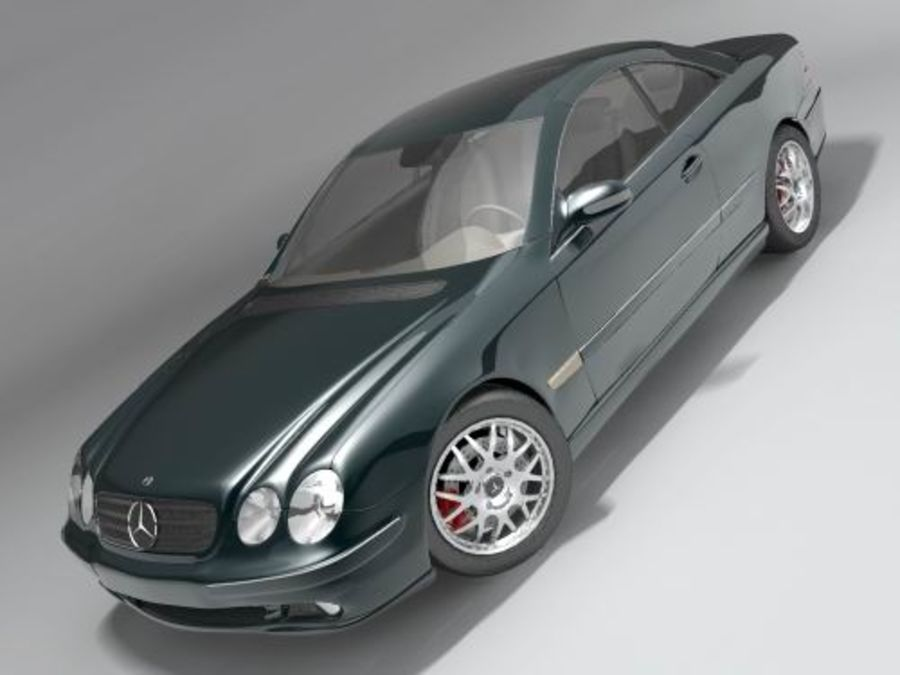 Mercedes CL 2000-2006 royalty-free 3d model - Preview no. 1