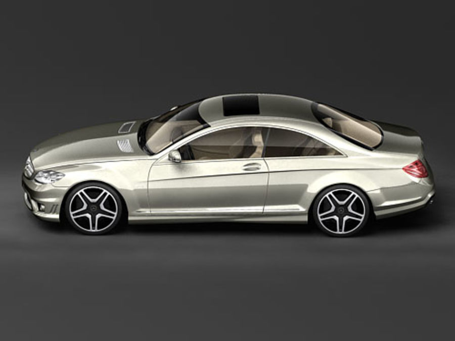 Mercedes CL AMG 2007-2011 royalty-free 3d model - Preview no. 5