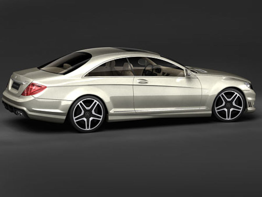 Mercedes CL AMG 2007-2011 royalty-free 3d model - Preview no. 4