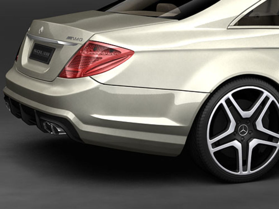 Mercedes CL AMG 2007-2011 royalty-free 3d model - Preview no. 6